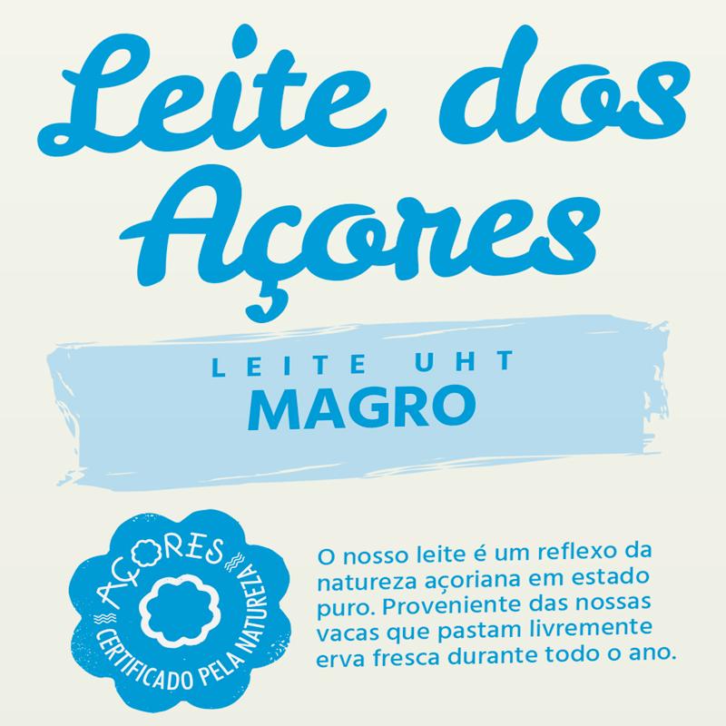 Rotulagem Unileite Leite dos Açores Magro